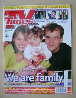 <!--2004-11-06-->TV Times magazine - Kate Ford and Simon Gregson cover (6-1