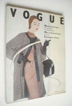 British Vogue magazine - October 1953 (Vintage Issue)