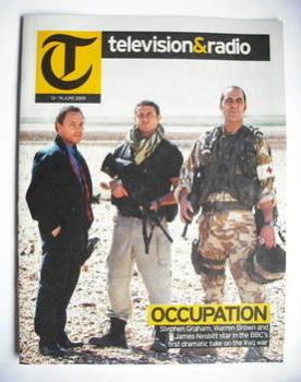 Television&Radio magazine - Stephen Graham, Warren Brown and James Nesbitt cover (13 June 2009)