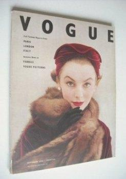 British Vogue magazine - September 1953 (Vintage Issue)