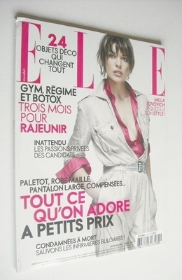 <!--2007-04-02-->French Elle magazine - 2 April 2007 - Milla Jovovich cover