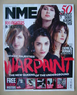 <!--2010-11-06-->NME magazine - Warpaint cover (6 November 2010)
