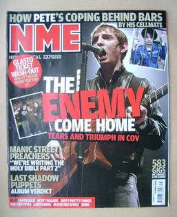 <!--2008-04-19-->NME magazine - The Enemy cover (19 April 2008)