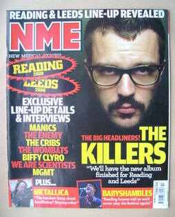 <!--2008-04-05-->NME magazine - Brandon Flowers cover (5 April 2008)