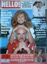 <!--1990-10-06-->Hello! magazine - Sean Connery and Micheline cover (6 Octo