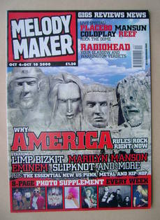 <!--2000-10-04-->Melody Maker magazine - Wmy American Rules Rock Right Now