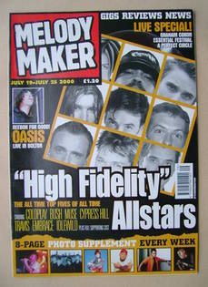 <!--2000-07-19-->Melody Maker magazine - High Fidelity Allstars cover (19-2