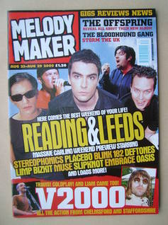 <!--2000-08-23-->Melody Maker magazine - Reading & Leeds cover (23-29 Augus