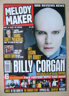 <!--2000-12-06-->Melody Maker magazine - Billy Corgan cover (6-12 December