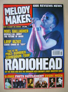 <!--2000-09-06-->Melody Maker magazine - Thom Yorke cover (6-12 September 2