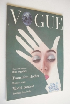 British Vogue magazine - August 1954 (Vintage Issue)