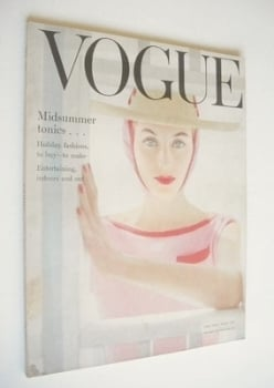 British Vogue magazine - July 1954 (Vintage Issue)