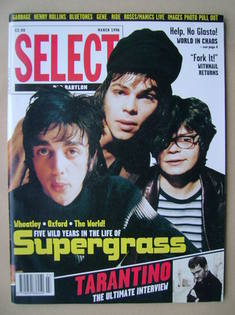 SELECT magazine - Supergrass cover (March 1996)