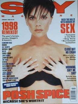 Sky magazine - Victoria Beckham cover (January 1999)