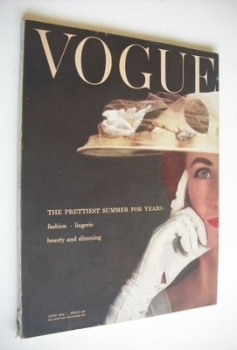 British Vogue magazine - June 1954 (Vintage Issue)