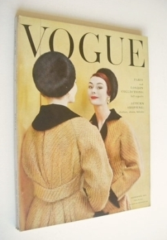 British Vogue magazine - September 1954 (Vintage Issue)