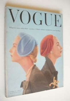 British Vogue magazine - October 1954 (Vintage Issue)