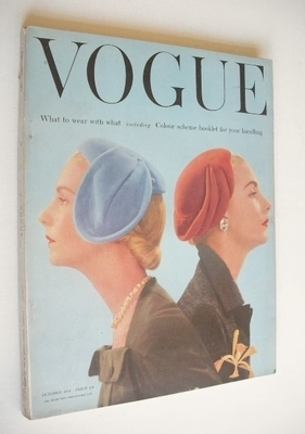 <!--1954-10-->British Vogue magazine - October 1954 (Vintage Issue)