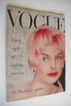British Vogue magazine - January 1956 (Vintage Issue)