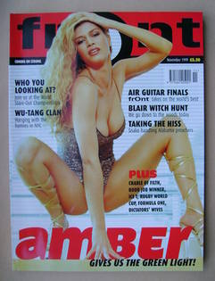 <!--1999-11-->Front magazine - Amber Smith cover (November 1999)