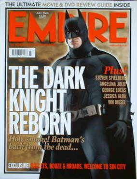 <!--2005-07-->Empire magazine - The Dark Knight cover (July 2005 - Issue 19