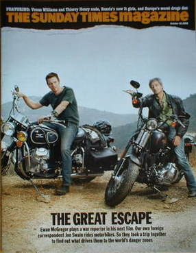 <!--2008-10-19-->The Sunday Times magazine - Ewan McGregor and Jon Swain co