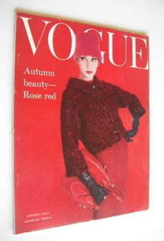 British Vogue magazine - August 1956 (Vintage Issue)