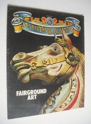 <!--1981-08-30-->The Sunday Times magazine - Fairground Art cover (30 Augus