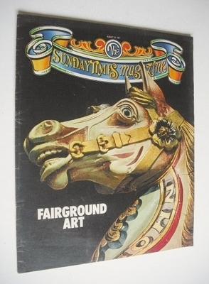 <!--1981-08-30-->The Sunday Times magazine - Fairground Art cover (30 Augus