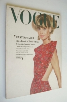 British Vogue magazine - 15 September 1964 - Jean Shrimpton cover