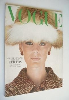 British Vogue magazine - August 1964 - Pauline Stone cover