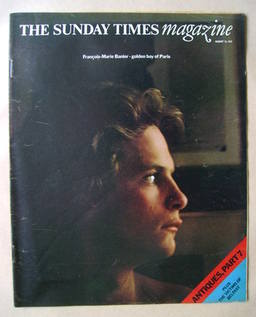 The Sunday Times magazine - Francois-Marie Banier cover (13 August 1972)