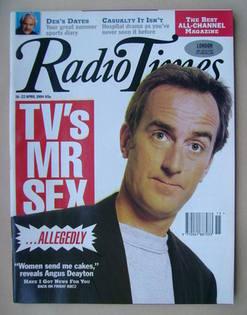 <!--1994-04-16-->Radio Times magazine - Angus Deayton cover (16-22 April 19