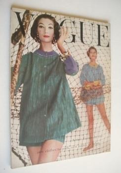 British Vogue magazine - July 1956 (Vintage Issue)