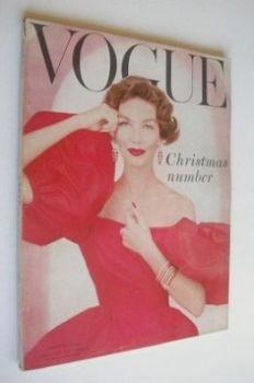 British Vogue magazine - December 1956 (Vintage Issue)