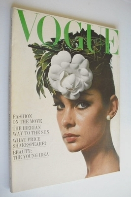 <!--1964-04-01-->British Vogue magazine - 1 April 1964 - Jean Shrimpton cov