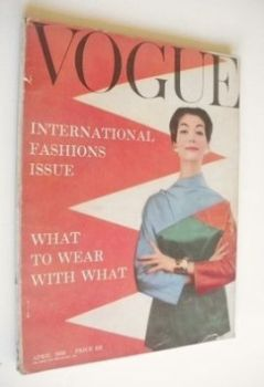 British Vogue magazine - April 1956 (Vintage Issue)
