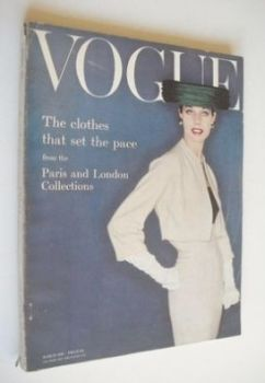 British Vogue magazine - March 1956 (Vintage Issue)