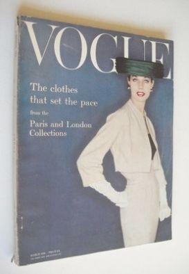 <!--1956-03-->British Vogue magazine - March 1956 (Vintage Issue)