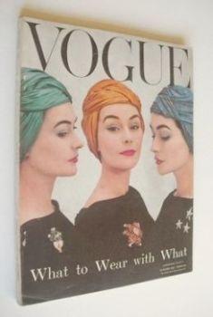 British Vogue magazine - October 1956 (Vintage Issue)