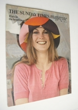 The Sunday Times magazine - Hats In The Headlines cover (20 June 1971)