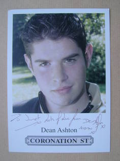 Dean Ashton autograph (ex Coronation Street actor)