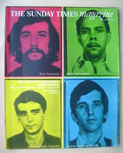 The Sunday Times magazine - The Men Who Kidnapped James Cross cover (16 January 1972)