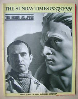 <!--1971-11-07-->The Sunday Times magazine - The Aryan Sculptor cover (7 No