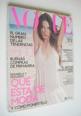 <!--2003-03-->Vogue Espana magazine - March 2003 - Jessica Miller cover