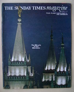 The Sunday Times magazine - The Miracle of the Mormons cover (21 November 1971)