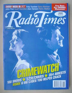 <!--1994-05-07-->Radio Times magazine - Sue Cook and Nick Ross cover (7-13