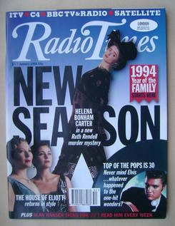 <!--1994-01-01-->Radio Times magazine - Helena Bonham Carter cover (1-7 Jan