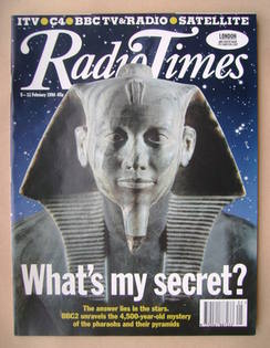 <!--1994-02-05-->Radio Times magazine - King Khafra cover (5-11 February 19