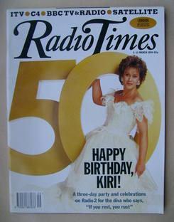 <!--1994-03-05-->Radio Times magazine - Dame Kiri Te Kanawa cover (5-11 Mar